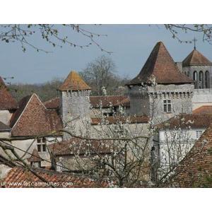 Vue sur le château (14ème - 16ème) qui héberge l Atelier-musée des Tisserands et de la Charentaise