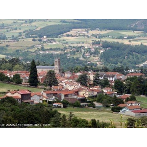 Vue du Bourg depuis le hameau de Vergelas