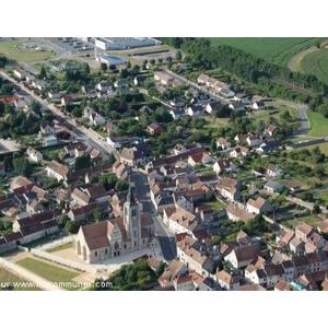 Vue aérienne église Saint Aignan