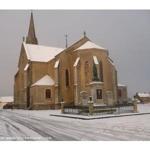 L église lors de l épisode neigeux du 18/19 décembre 2009
