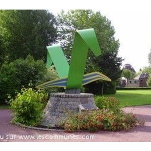Logo de Vimoutiers dans le parc municipal