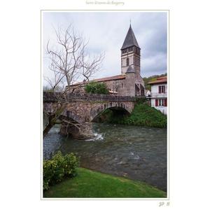La Nive et l église Saint-Étienne