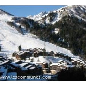 Vue sur les pistes de ski de Valmorel