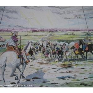 Fresque sur la bataille de Poitiersen 732
