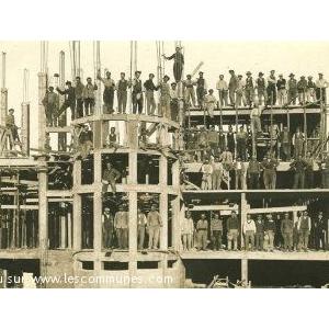 Sanatorium en construction: un des bâtiments 1932